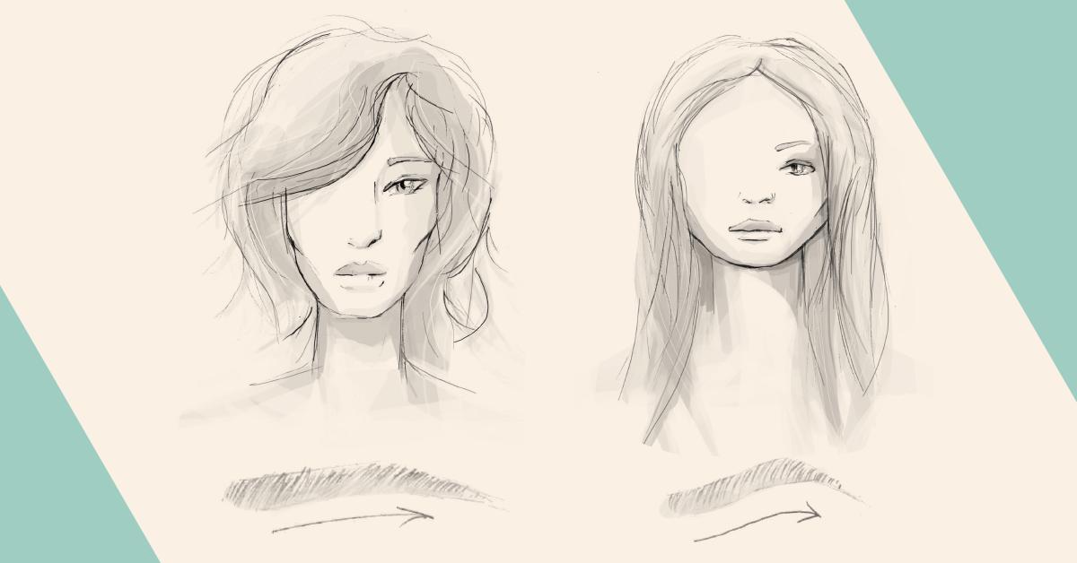 Kształt brwi a kształt twarzy: twarz okrągła, twarz trójkątna – BaBylis-totallook.pl